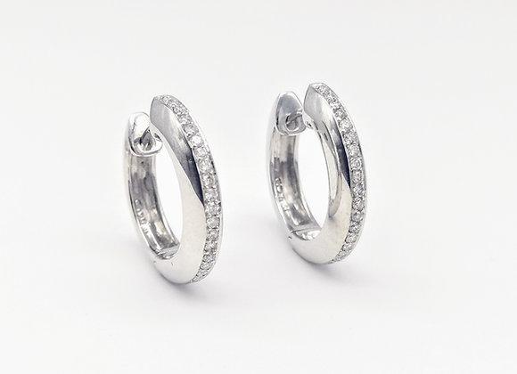 18ct Diamond Set Hoop Earrings