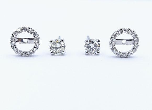 18ct Diamond Cluster Stud Earrings