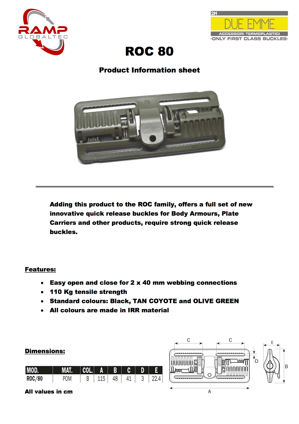 Download ROC 80 product information sheet