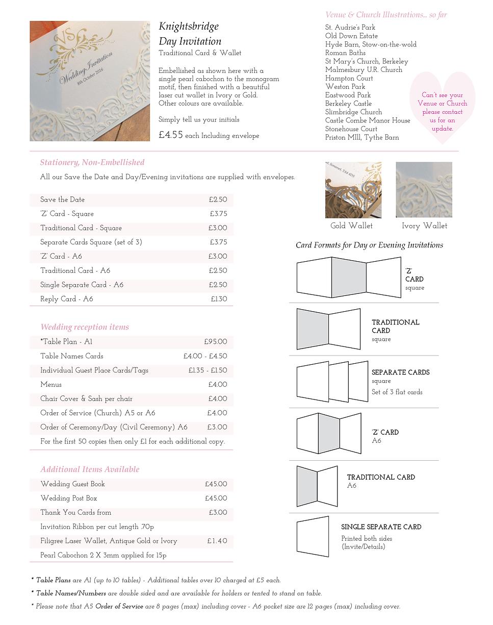Knightsbridge Wedding Stationery Price Guide - Designed by Archibald Edwards