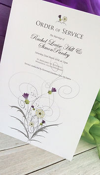 """Just wanted to say a huge thank-you for all your hard work and amazing artwork for our wedding stationery. """