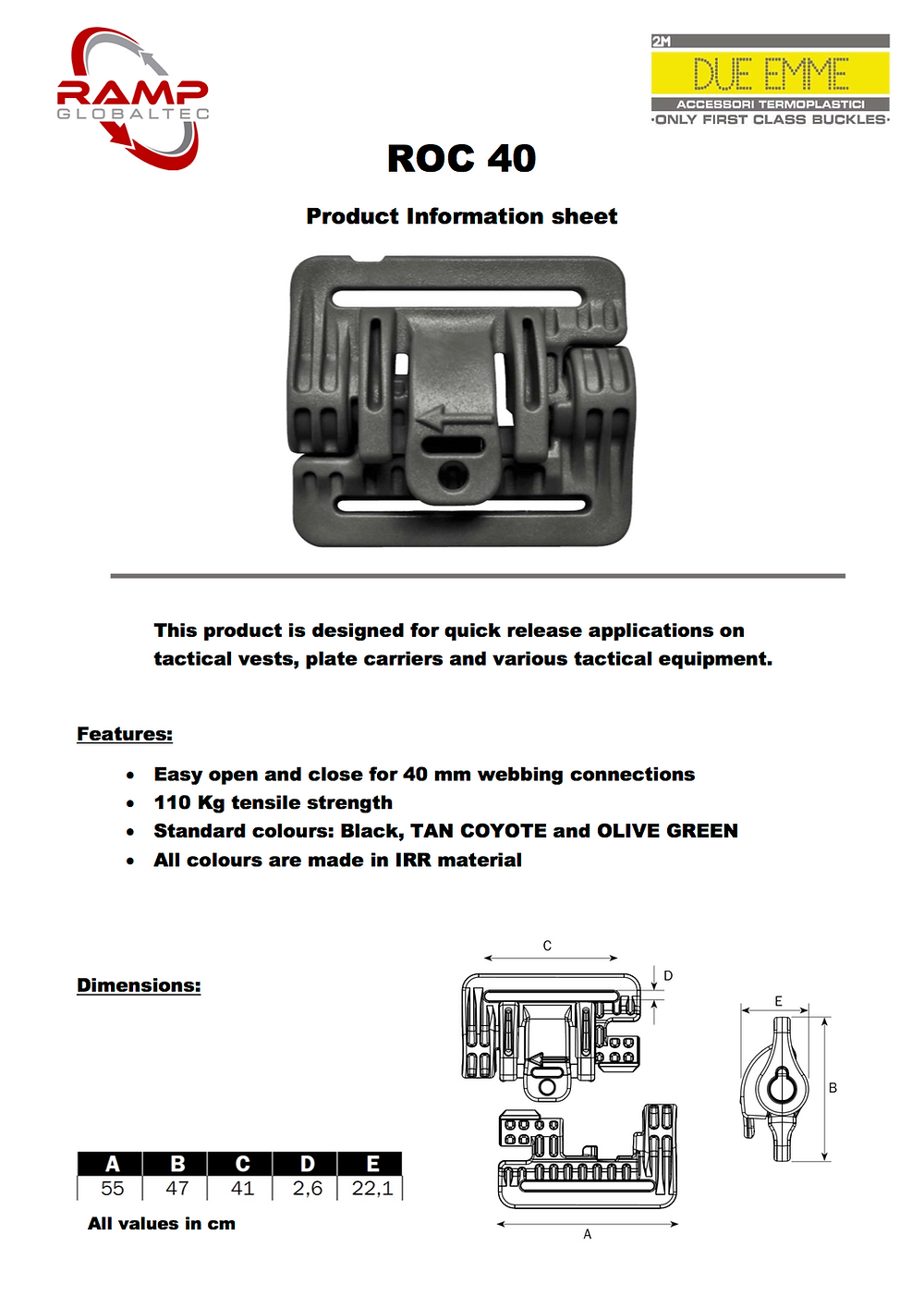 Download ROC 40 product information sheet