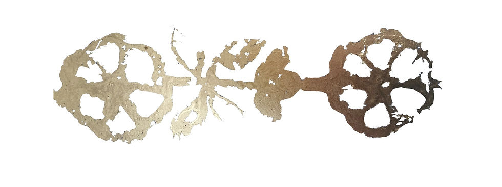 Gold leaf for intro text background