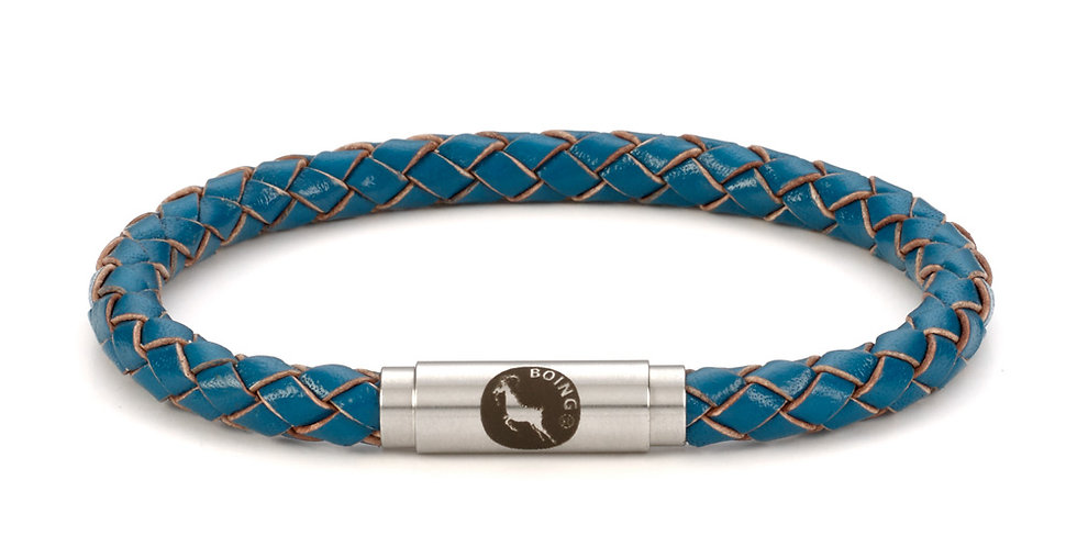 Boing Teal Skinny Leather Bracelet