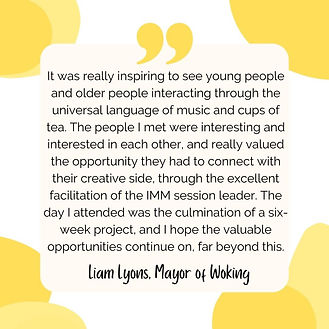 Testimonial Together WIth Music - May of Woking