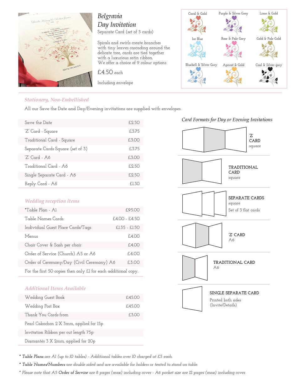 Belgravia Wedding Stationery Price Guide - Designed by Archibald Edwards