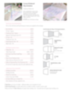 Richond Wedding Stationery Price Guide - Designed by Archibald Edwards
