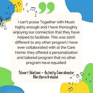 Testimonial Together WIth Music - Northern Ireland