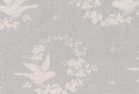 Birdsong (Small) ~ Seamist Blue on Ivory Linen