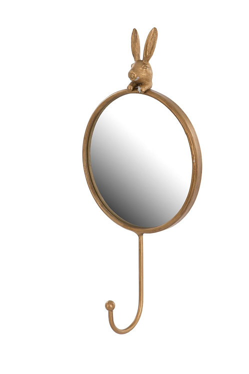 Hare Small Round Mirror with Hook