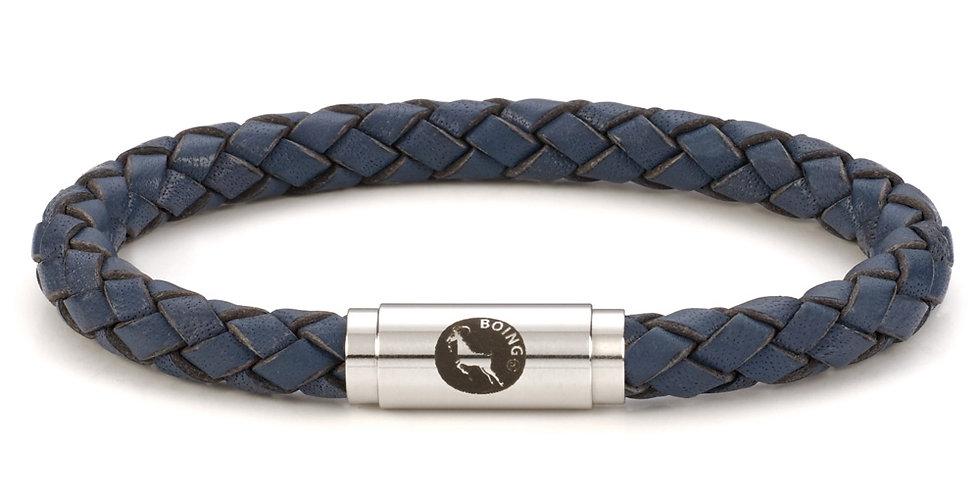 Boing Blue Middy Leather Bracelet