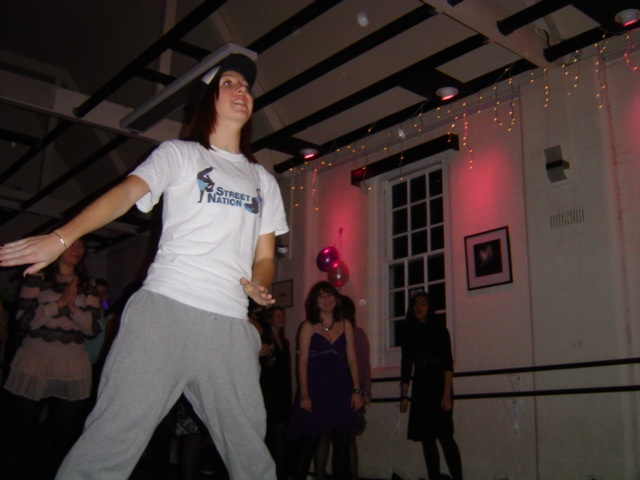 Gemma doing a Party