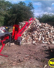 On site firewood processing