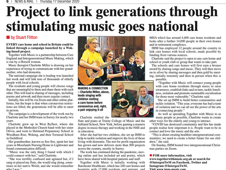 Project to link generations through stimulating music goes national