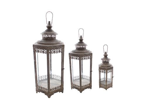Tangier Moroccan Style Lantern / Hurricane Lamp