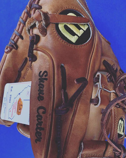 Another great glove we engraved to personalize and protect this ballers gear!