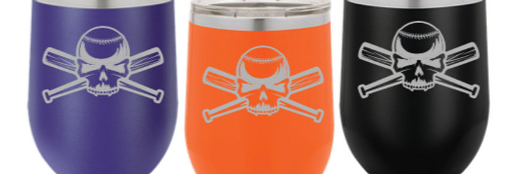 Clash Baseball Wine Tumbler