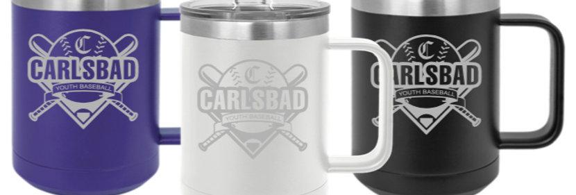 Carlsbad Youth Baseball Coffee Cup