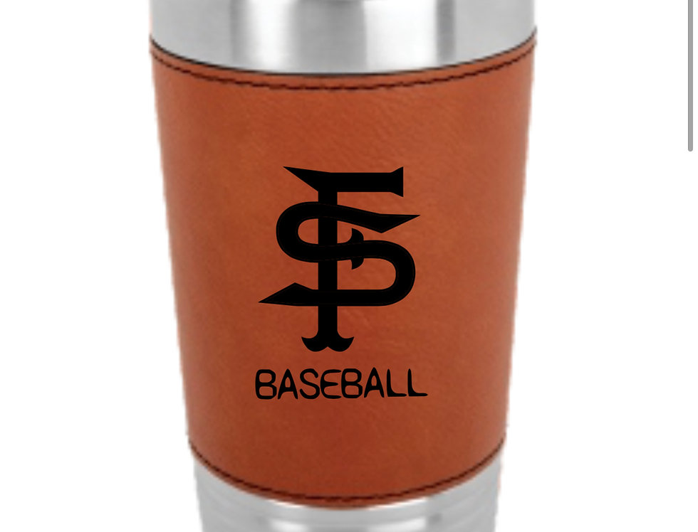 Scotch Plains Leather Wrapped Tumbler