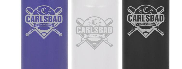 Carlsbad Youth Baseball 32 oz Water Bottle