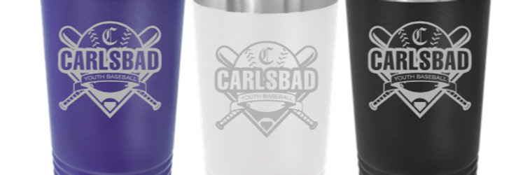Carlsbad Youth Baseball 16 oz Stainless Tumbler