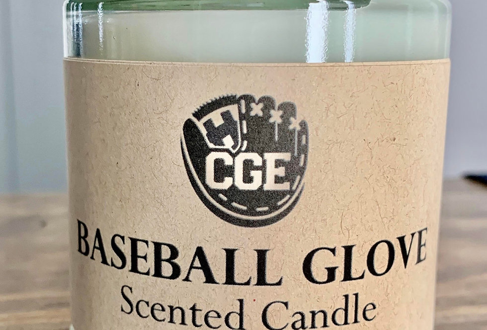 Baseball Glove Scented Candle