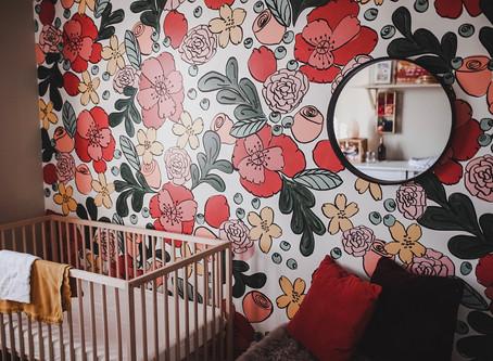 DIY Boho Floral Nursery Mural