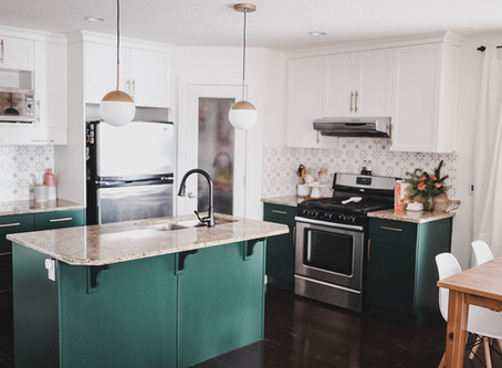 DIY Eclectic Glam Budget Kitchen Refresh
