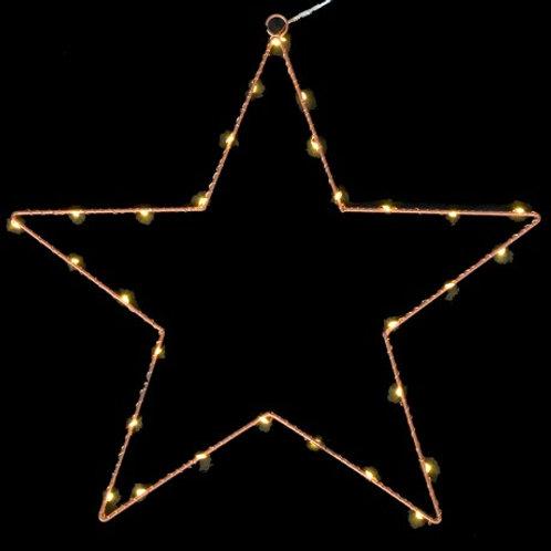 30 Mini led bronze wire star