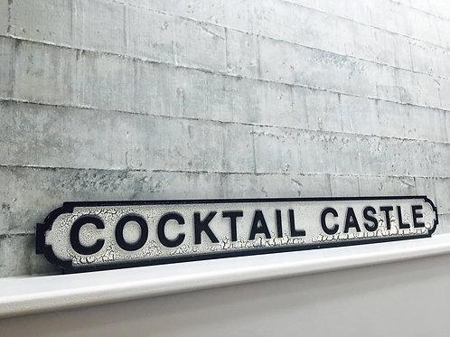 Cocktail castle sign