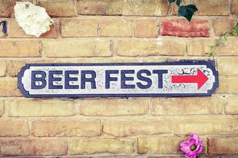 Beer fest sign