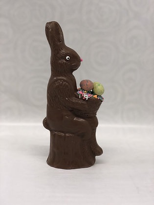 Solid Bunny Decorated With Malt Balls