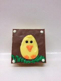 Milk Chocolate Decorated Crispy Treat