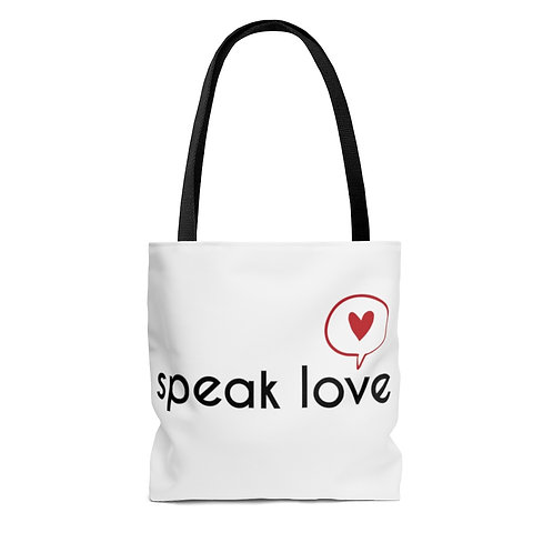 Speak Love Tote Bag