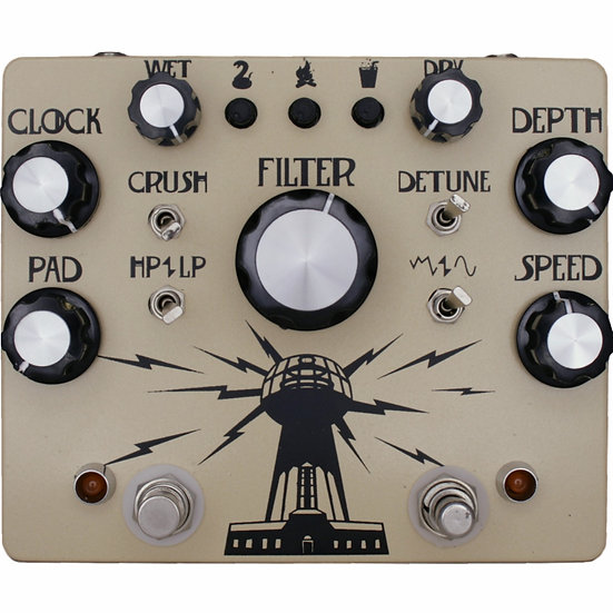 Wardenclyffe Deluxe, Hungry Robot Pedals, Lo-Fi Pedal, Modulation Pedal, Chorus pedal