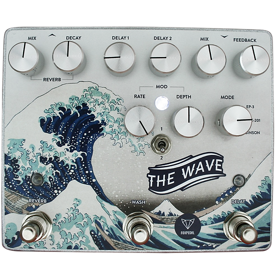 The Wave Delay Reverb Pedal