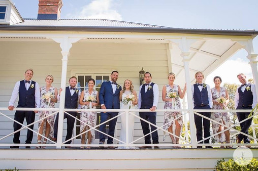 Wedding photography on the verandah