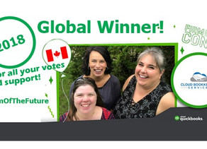 Cloud Bookkeeping Services awarded Global Firm of the Future title by Intuit Canada