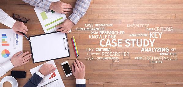 Business Concept: Case Study Word Cloud.