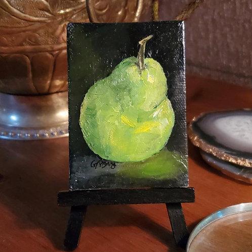 Pear oil on canvas
