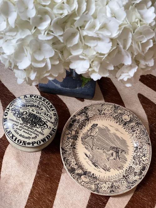 Vintage hunting plate