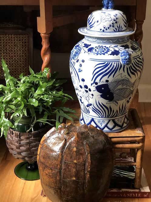 Koi fish temple jar