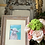 Thumbnail: Sheep watercolor matted and framed