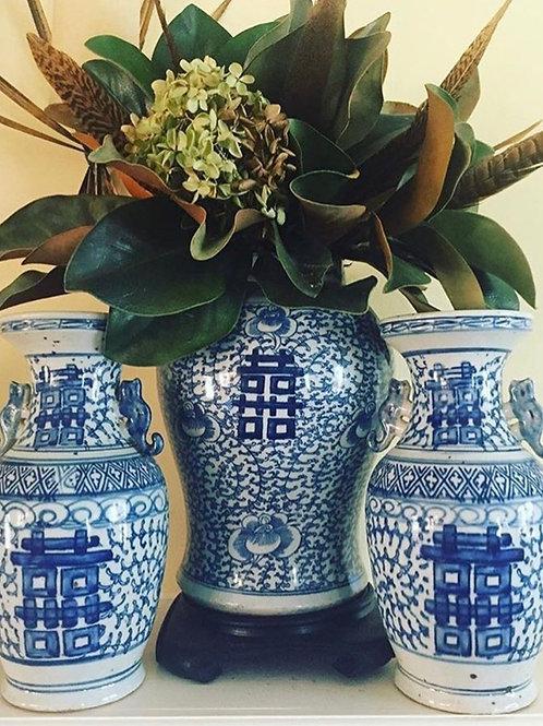 Double happiness vase