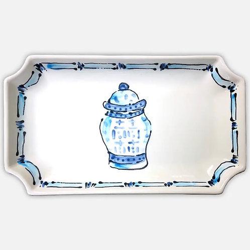 Rectangular ginger jar platter