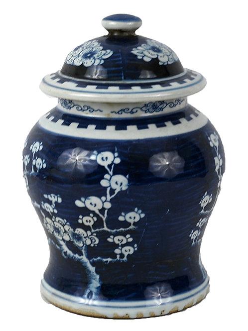 Cherry blossom temple jar