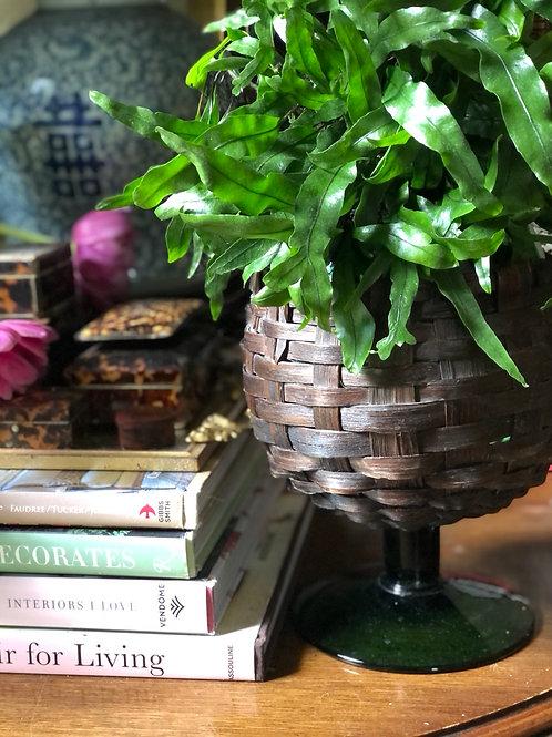 Large basket covered goblet