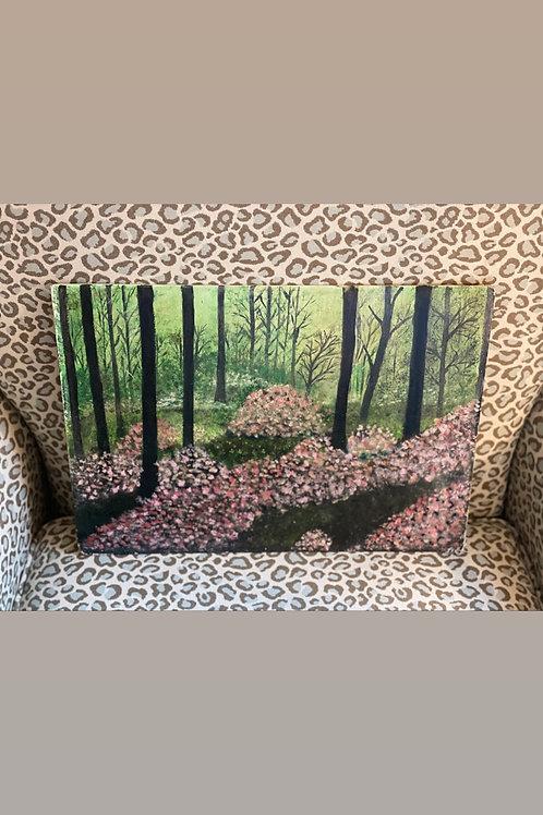 Azalea oil painting