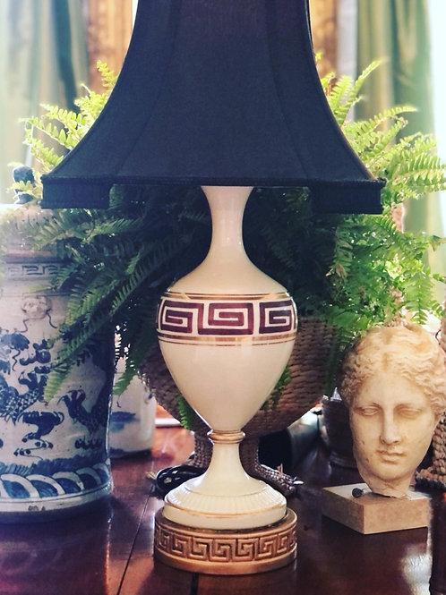 Vintage Greek key lamp
