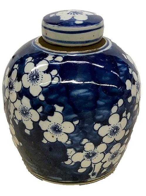 Cherry blossom ginger jar